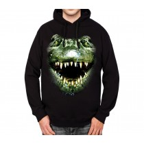 Alligator Face Mens Hoodie S-3XL