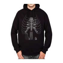 Amped Up Guitar Mens Hoodie S-3XL