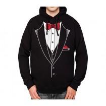 Suit Tuxedo Bowtie Mens Hoodie S-3XL