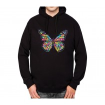 Butterfly Rainbow Colours Mens Hoodie S-3XL