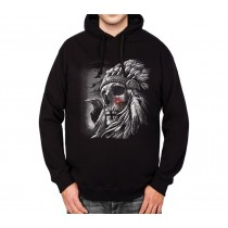 Skull Indian Chief Mens Hoodie S-3XL