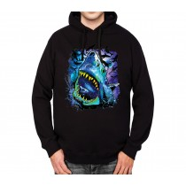 Shark Galaxy Solar System Mens Hoodie S-3XL