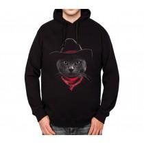 Cowboy Cat Hat Mens Hoodie S-3XL
