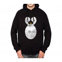 Penguin Antarctica Snow Mens Hoodie S-3XL