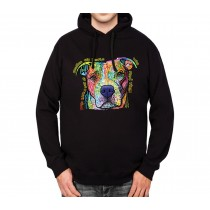 Pitbull Dog Best Friend Mens Hoodie S-3XL