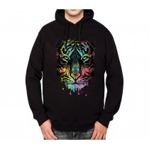 Tiger Face Cubism Colourful Mens Hoodie S-3XL