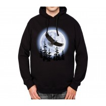 Flying Eagle Dark Night Mens Hoodie S-3XL