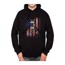 Guitar USA Flag Mens Hoodie S-3XL