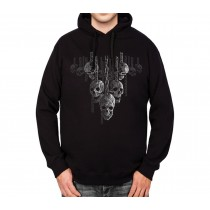 Hanging Out Skulls Mens Hoodie S-3XL