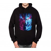 White Wolf Husky Planet Mens Hoodie S-3XL