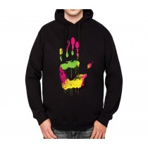High Five Hand Fingers Mens Hoodie S-3XL