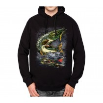Pike Fishing Fish Mens Hoodie S-3XL
