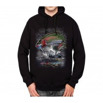 Trout Fishing Fish Mens Hoodie S-3XL