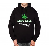 Cannabis Joint Let's Roll Mens Hoodie S-3XL