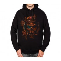 Skull King Crown Smoke Mens Hoodie S-3XL