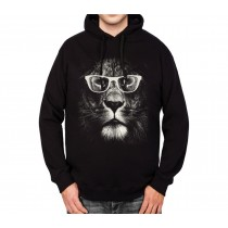 Lion Glasses Funny Animals Mens Hoodie S-3XL