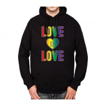 Love LGBT Gay Pride Mens Hoodie S-3XL