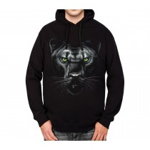 Panther Green Eyes Animals Mens Hoodie S-3XL