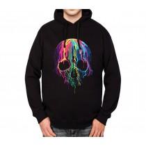 Melting Skull Horror Mens Hoodie S-3XL