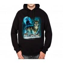 Howling Wolf Horde Mens Hoodie S-3XL