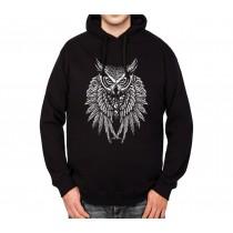 Owl Death Skulls Mens Hoodie S-3XL