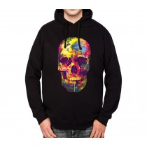 Painted Skull Funny Colourful Mens Hoodie S-3XL