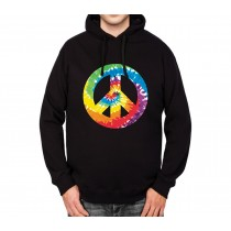 Peace And Love Sign Mens Hoodie S-3XL