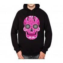 Pink Sugar Skull Death Mens Hoodie S-3XL