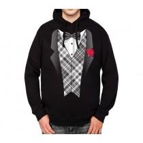 Tuxedo Suit Bowtie Mens Hoodie S-3XL