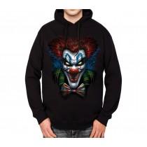 Psycho Clown Funny Mens Hoodie S-3XL