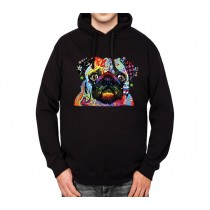 Pug Love My Dog Mens Hoodie S-3XL