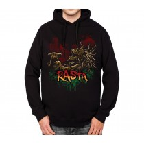 Rasta Skeleton Soul Music Dreadlocks Mens Hoodie S-3XL