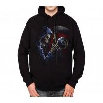Reaper Scythe Sphere Mens Hoodie S-3XL