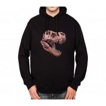 T-Rex Skull Dinosaur Mens Hoodie S-3XL