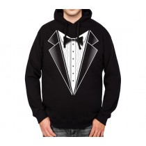 Bowtie Tuxedo Suit Mens Hoodie S-3XL