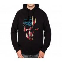 American Skull Mens Hoodie S-3XL