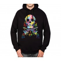 Skull Guns Wild West Mens Hoodie S-3XL