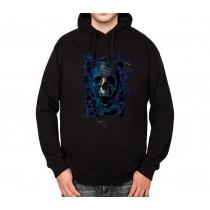 Human Skull Mens Hoodie S-3XL