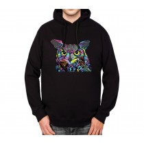 Colourful Owl Mens Hoodie S-3XL