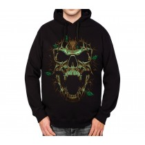 Thorn Skull Leaves Mens Hoodie S-3XL