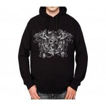 Viking Skull Mens Hoodie XL-3XL