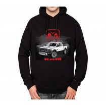 White RAM Pickup Truck Men Hoodie S-3XL