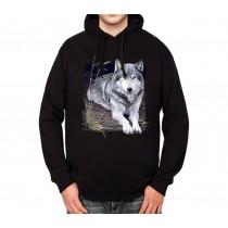 Wolf Portrait Mens Hoodie S-3XL