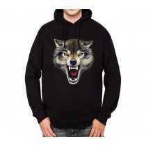 Wolf Attack Mens Hoodie S-3XL