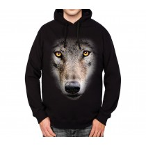 Wolf Face Mens Hoodie S-3XL