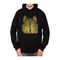 Colourful Wolf Mens Hoodie S-3XL
