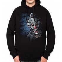 Clown Headphones Funny Mens Hoodie S-3XL