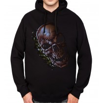 Cracked Skull Horror Mens Hoodie S-3XL