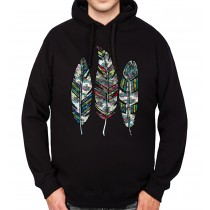 Feather Bird Nature Mens Hoodie S-3XL
