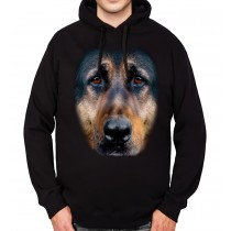 German Shephard Face Animals Mens Hoodie S-3XL